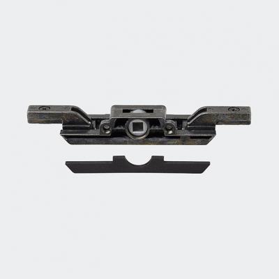 Crémone de verrouillage encastrée avec ou sans blocage anti-fausse manœuvre + adaptateur